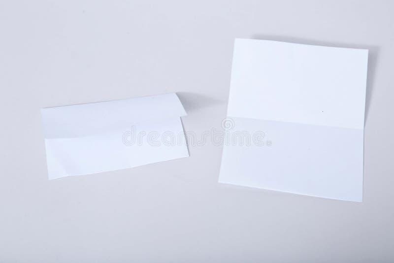 Retrato do cartão de cumprimentos vazio do convite imagem de stock
