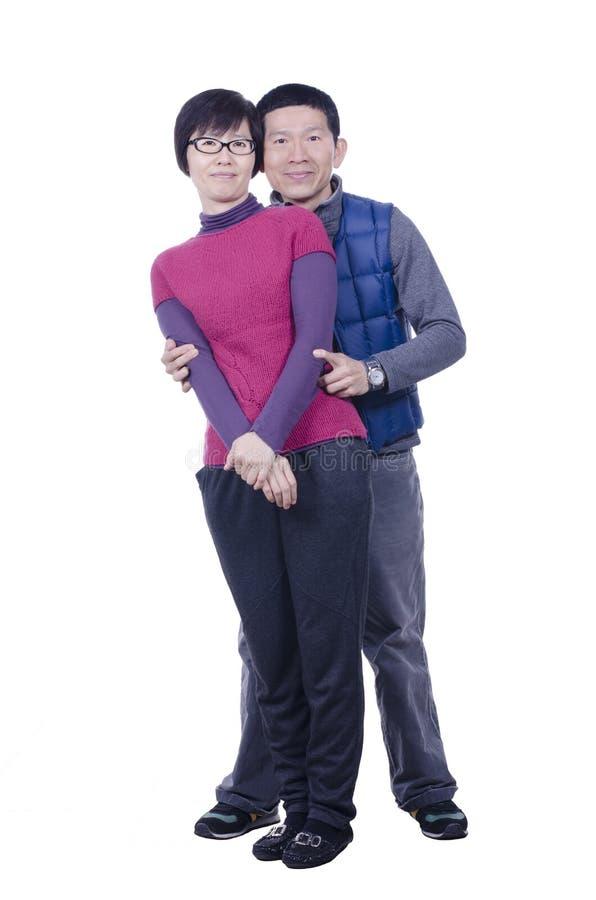 Retrato do casal foto de stock