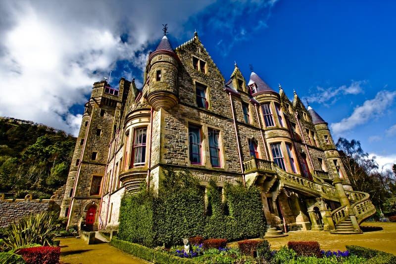Retrato do castelo de Belfast em Irlanda do Norte. imagem de stock