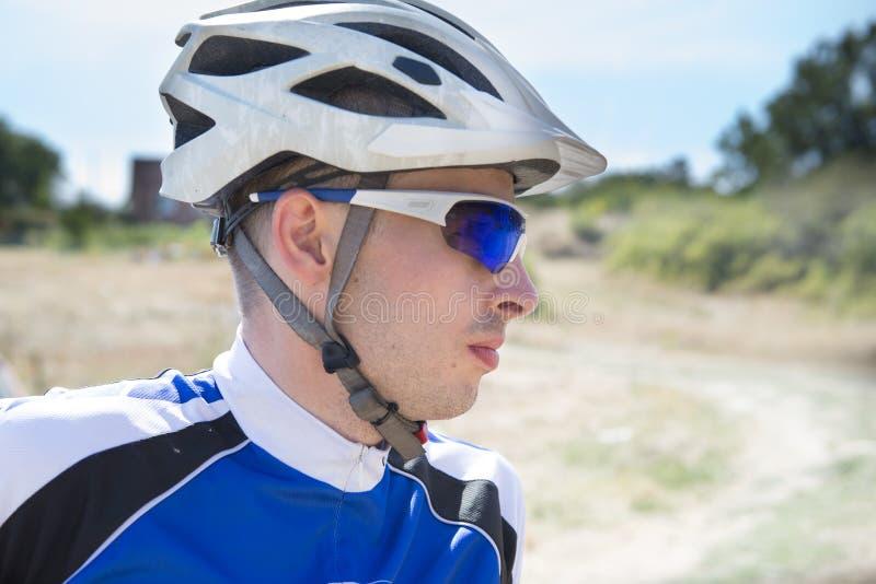 Retrato do ciclista foto de stock royalty free