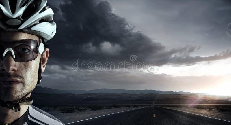 Retrato do ciclista imagem de stock