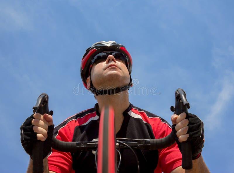 Retrato do ciclista imagens de stock
