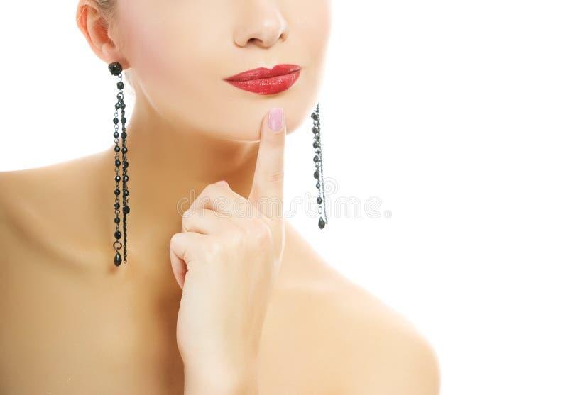 Retrato do close-up da mulher foto de stock