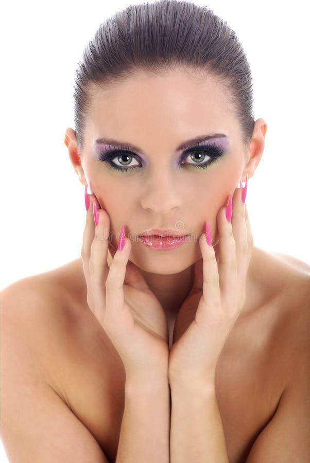 Retrato do Close-up da mulher bonita com professi fotos de stock