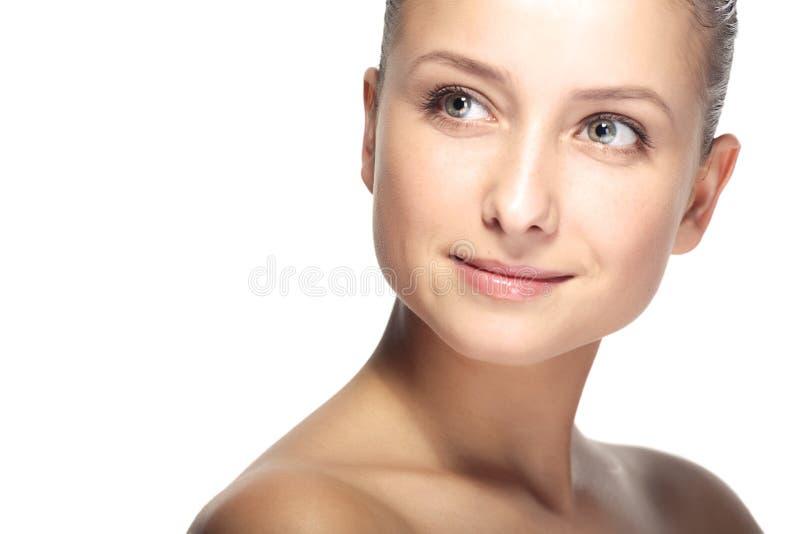 Retrato do close up da mulher da beleza imagens de stock