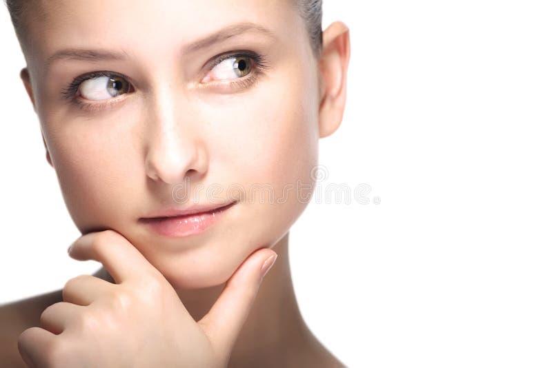 Retrato do close up da mulher da beleza imagens de stock royalty free