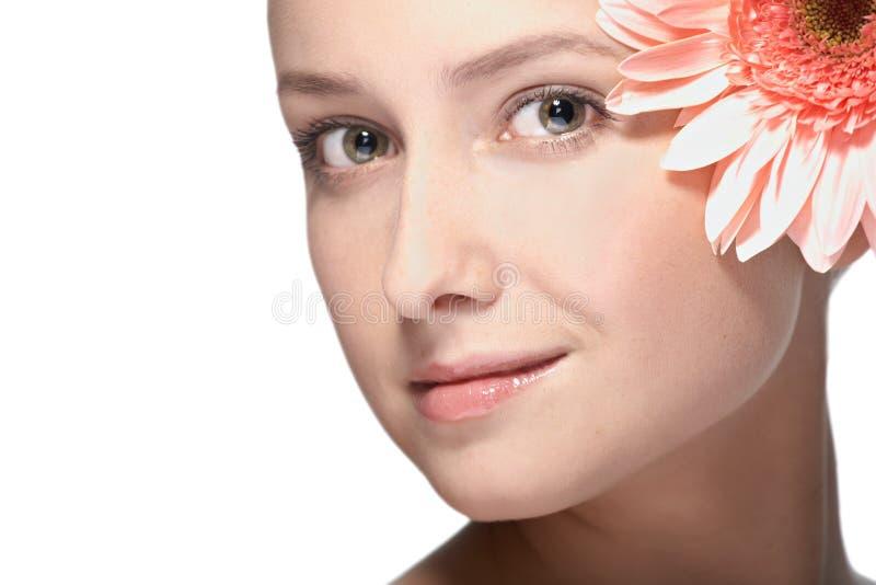 Retrato do close up da mulher da beleza fotografia de stock royalty free