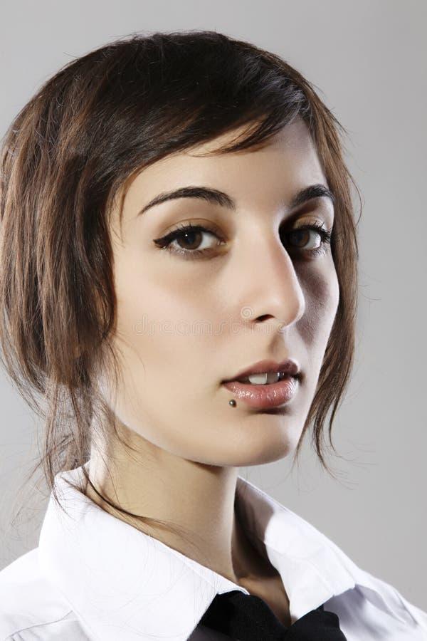 Retrato do close up da mulher da forma imagens de stock royalty free