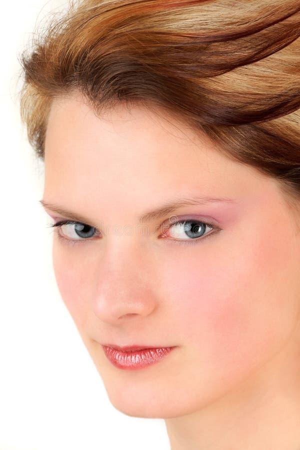 Retrato do Close-up da mulher nova imagens de stock