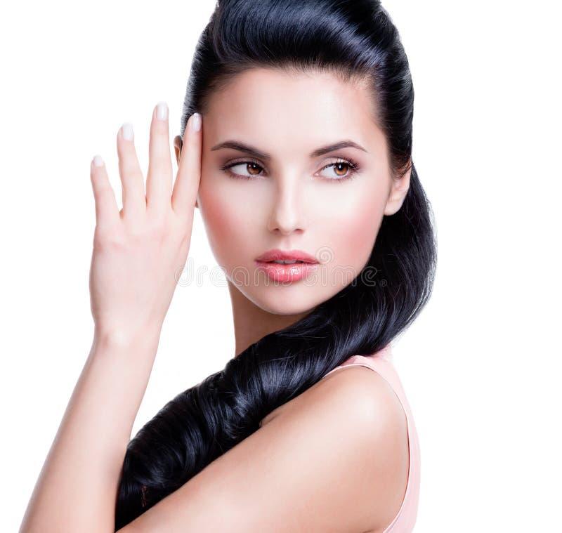 Retrato do close up da mulher sensual bonita imagem de stock royalty free