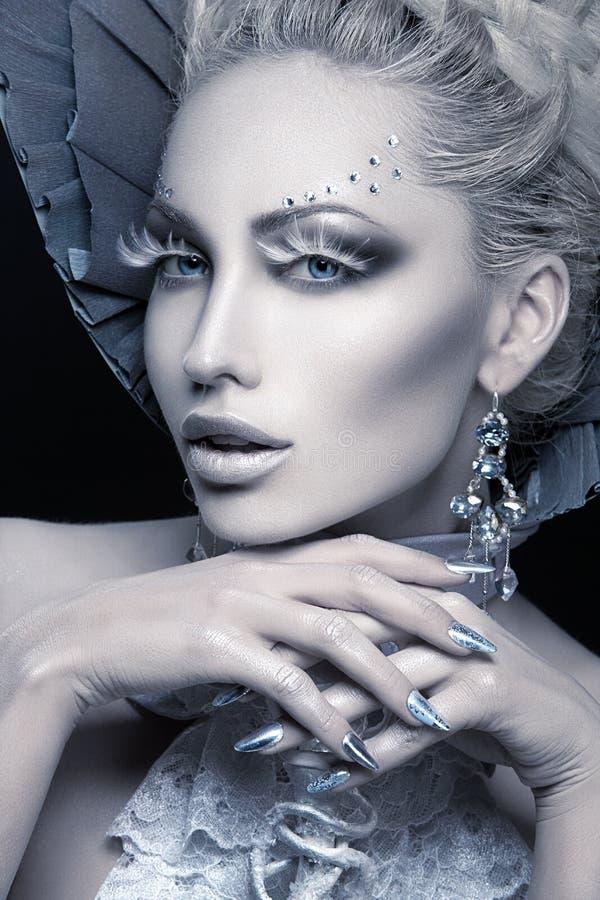 Retrato do close up da rainha do inverno fotos de stock