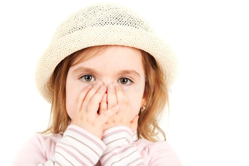 Retrato do Close-up da rapariga fotos de stock royalty free