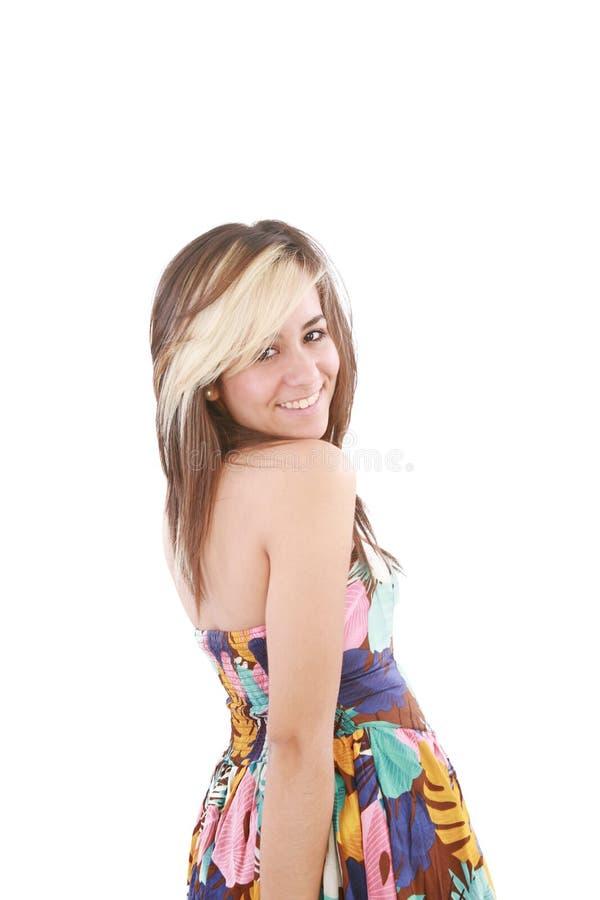 Retrato do Close-up de um adolescente bonito imagem de stock