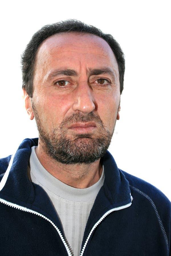 Retrato do close up de um homem farpado imagem de stock