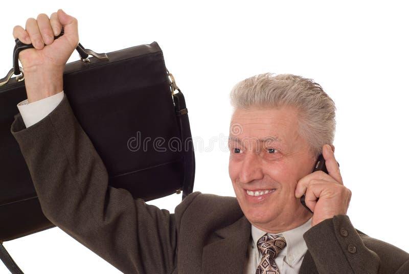 Retrato do close up de um homem mais idoso imagem de stock