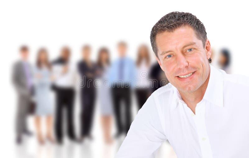 Retrato do close up de um sorriso do homem sênior imagens de stock