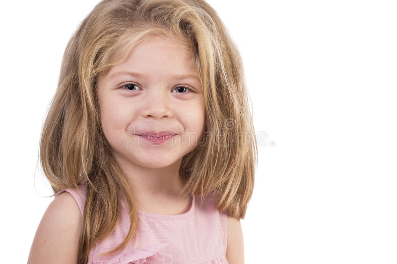 Retrato do close up de uma menina bonito foto de stock royalty free