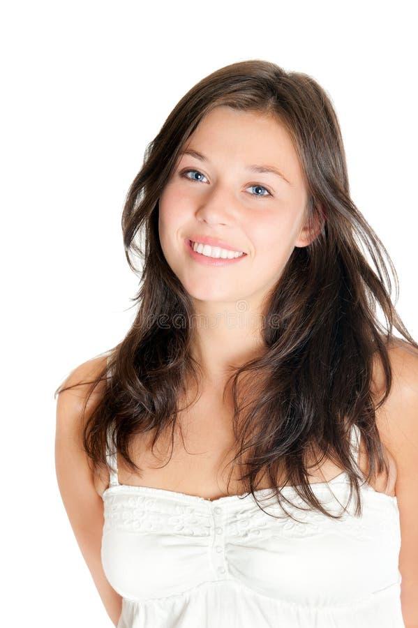 Retrato do close up de uma mulher nova bonita fotos de stock royalty free