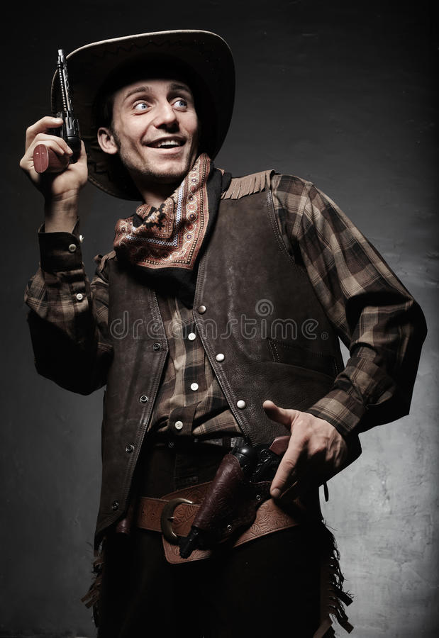 Retrato do close up do cowboy fotografia de stock royalty free