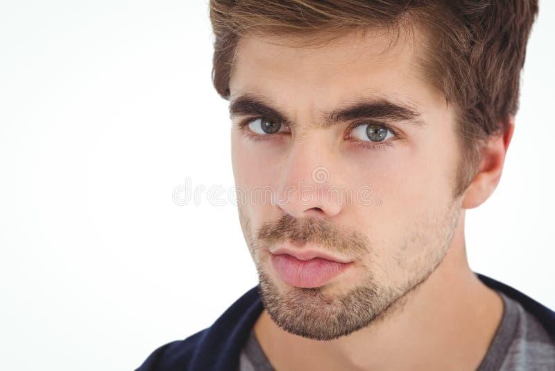 Retrato do close-up do homem sério fotos de stock