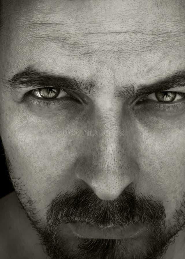 Retrato do Close-up do indivíduo masculino fotos de stock royalty free
