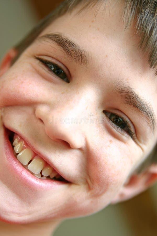 Retrato do Close-up do menino foto de stock royalty free