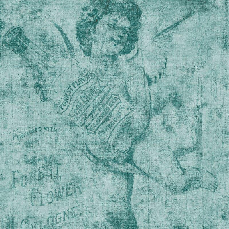 Retrato do cologne do anjo ou do Cherub ilustração royalty free