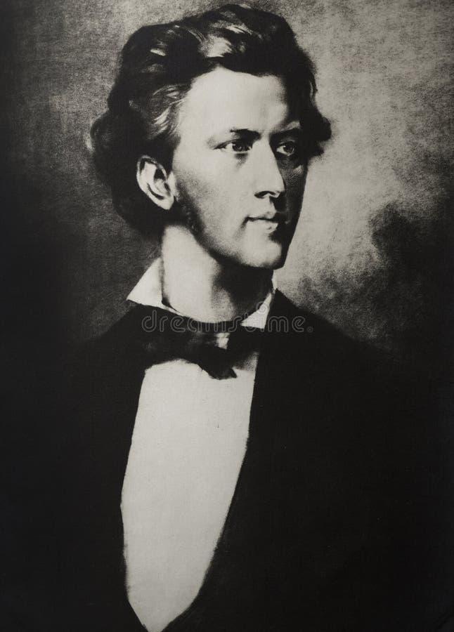 Retrato do compositor Frederic Chopin fotos de stock royalty free