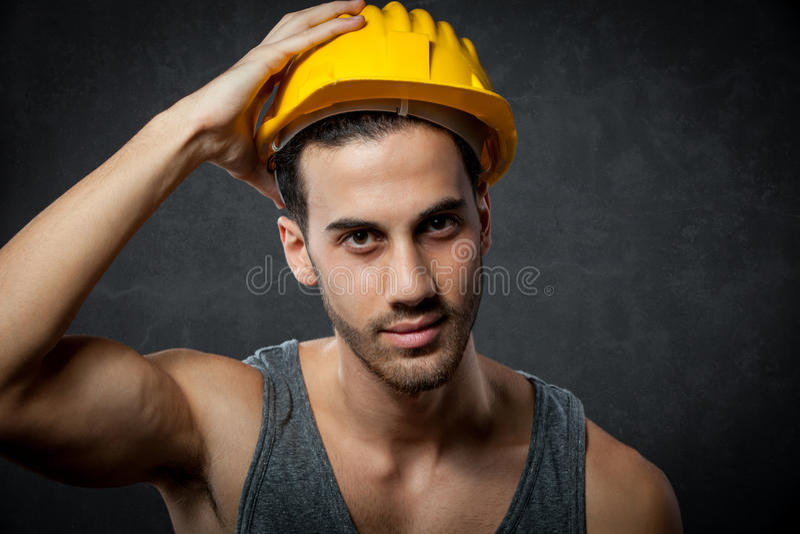 Retrato do construtor foto de stock royalty free