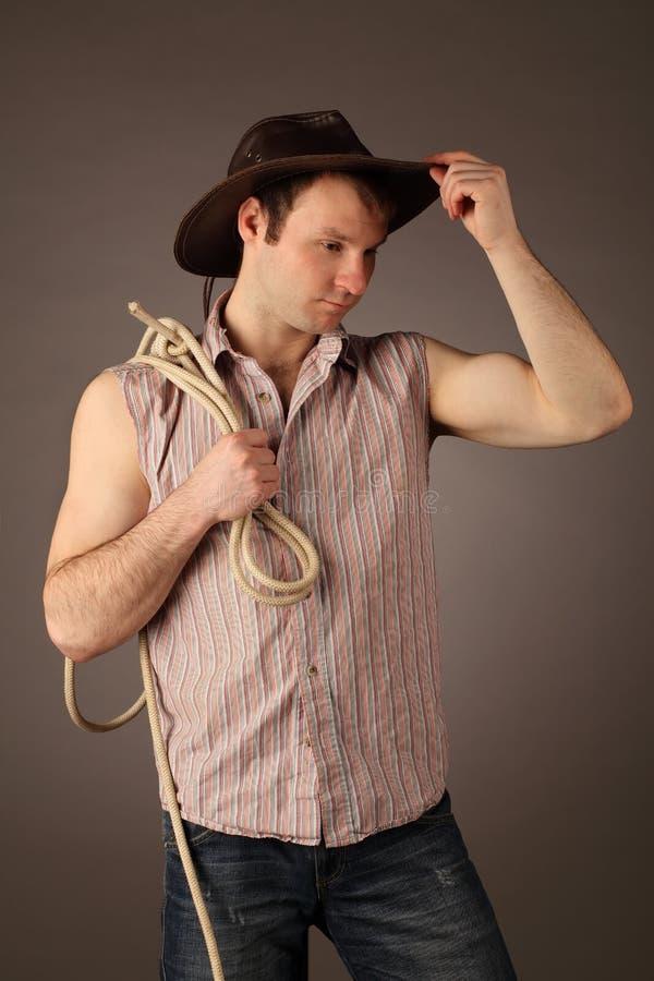 Retrato do cowboy fotografia de stock