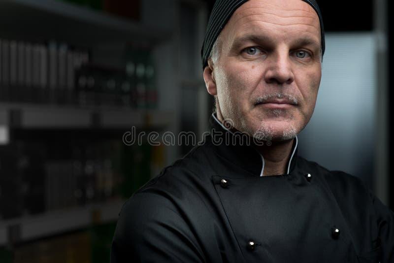 Retrato do cozinheiro chefe imagem de stock