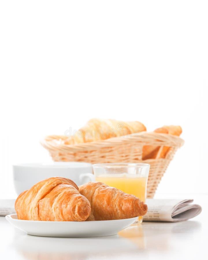Retrato do croissant da manhã foto de stock