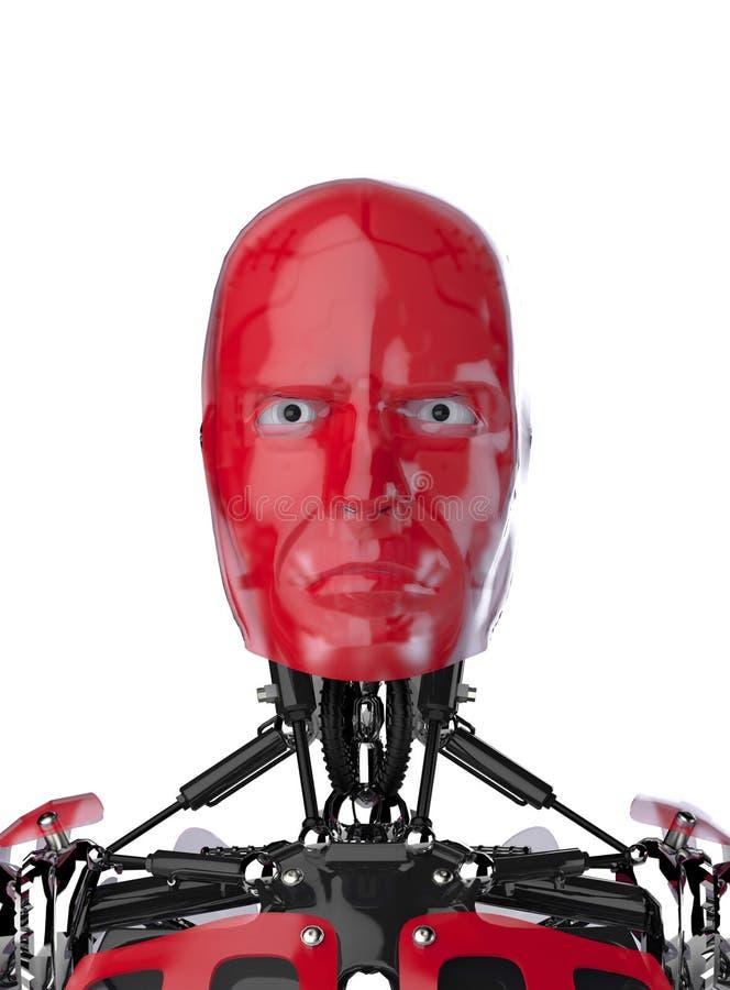 Retrato do Cyborg ilustração do vetor