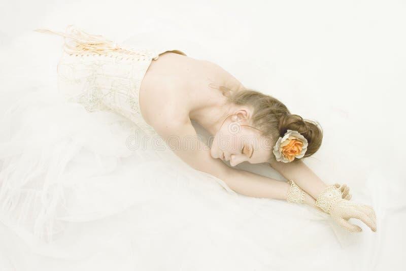 Retrato do dançarino de bailado bonito fotografia de stock