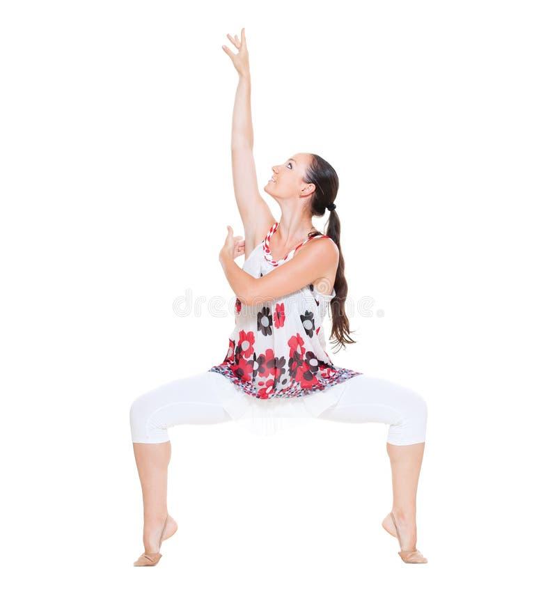 Retrato do dançarino gracioso imagens de stock royalty free