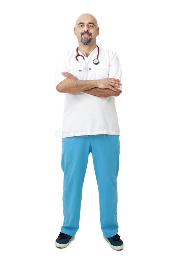Retrato do doutor com estetoscópio fotos de stock royalty free