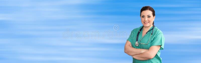 Retrato do doutor fêmea fotografia de stock