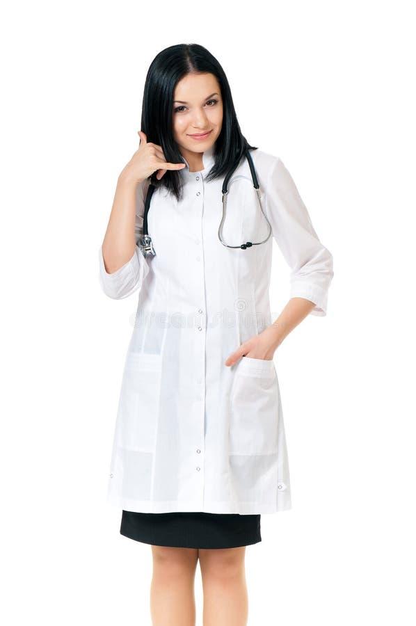 Retrato do doutor fêmea foto de stock royalty free