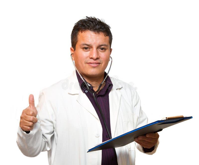 Retrato do doutor feliz imagens de stock