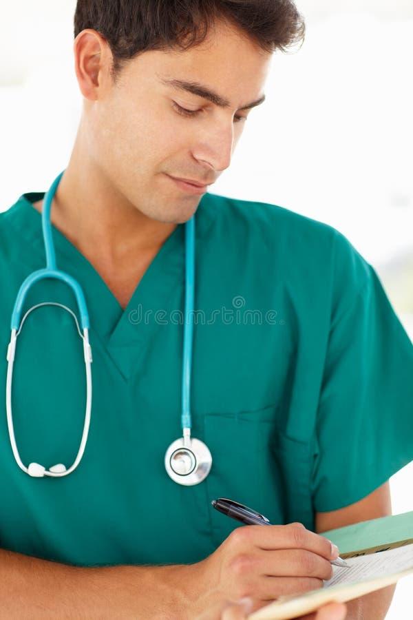 Retrato do doutor novo foto de stock