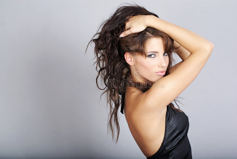 Retrato do encanto da mulher 'sexy' fotos de stock