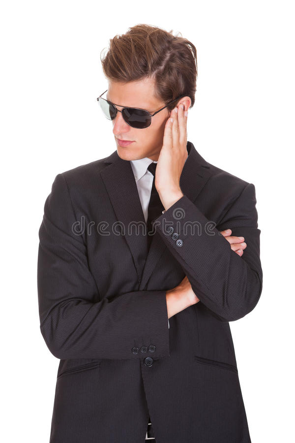 Retrato do espião masculino fotografia de stock royalty free