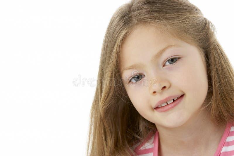 Retrato do estúdio da menina de sorriso fotos de stock royalty free