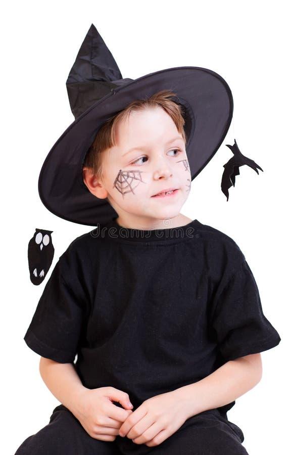 Retrato do estúdio de Halloween foto de stock royalty free