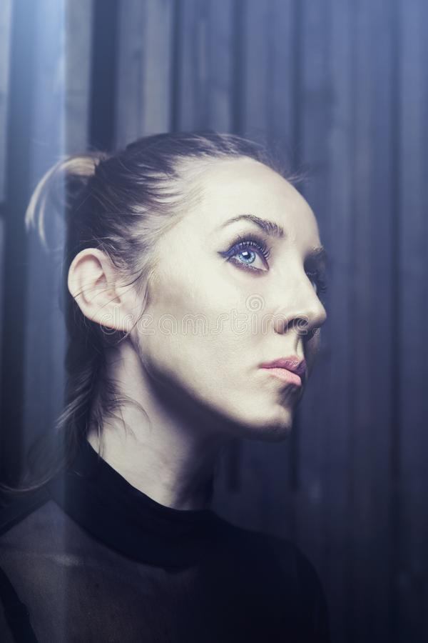 Retrato do estúdio de uma mulher nova imagem de stock royalty free