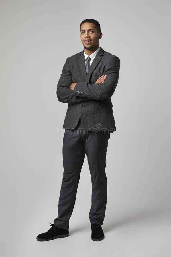 Retrato do estúdio do homem de negócios Wearing Suit imagem de stock royalty free