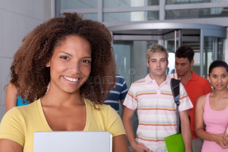 Retrato do estudante fêmea imagens de stock