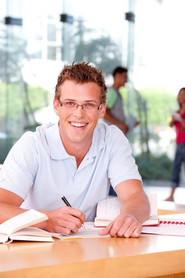 Retrato do estudante masculino fotografia de stock royalty free