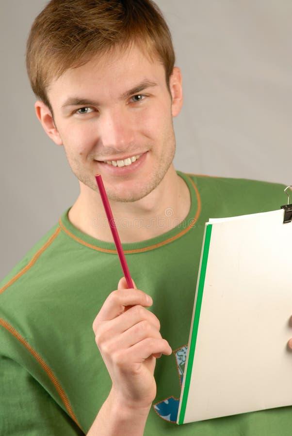 Retrato do estudante novo imagens de stock