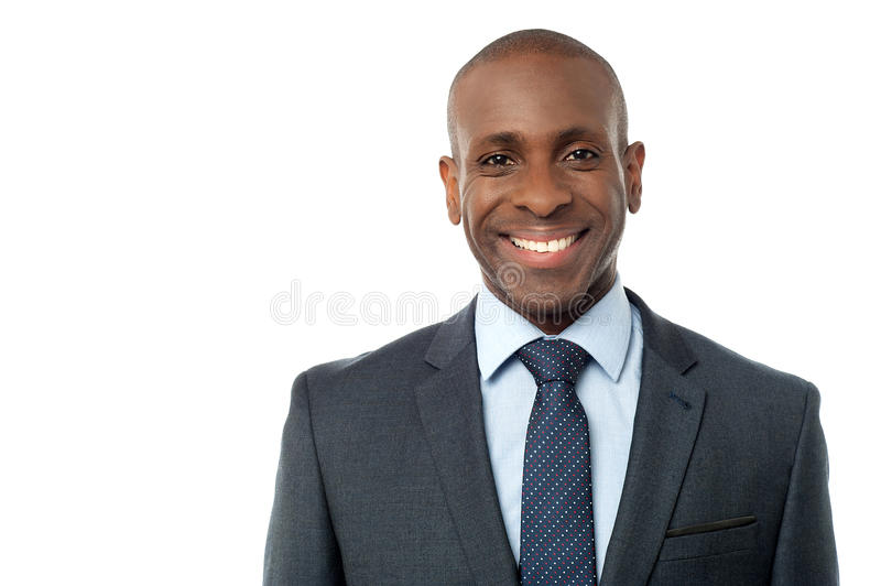 Retrato do executivo empresarial de sorriso fotografia de stock royalty free
